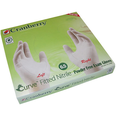 Cranberry Curve Nitrile Fitted Gloves