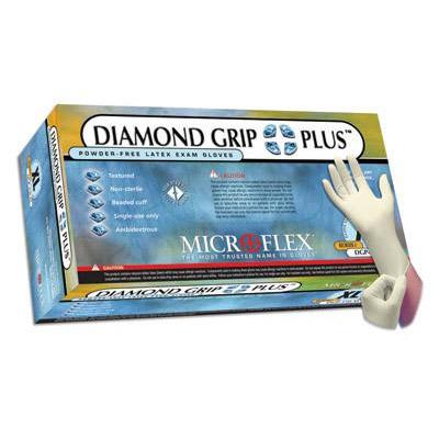 Diamond Grip Plus Latex Medical Gloves