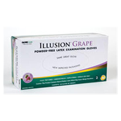 Illusion Grape Latex Scented Medical Gloves