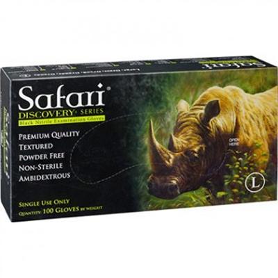 Safari Black Nitrile Gloves