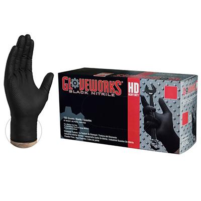 Gloveworks HD Black Nitrile Utility/Automotive Gloves