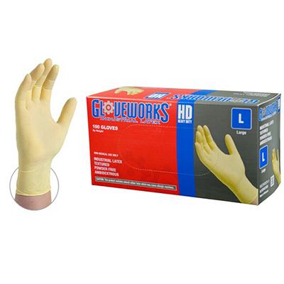 Gloveworks Ivory Latex Utility/Automotive Gloves